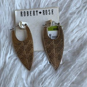 NWT Robert Rose Gold Earrings